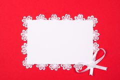 White card for congratulation Royalty Free Stock Image