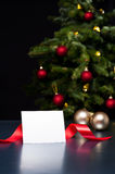 White card in elegant Christmas decoration Stock Images