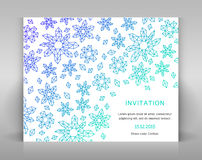 White card with geometric decoration. Stock Image