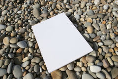 White card isolated. At the beach royalty free illustration
