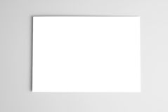 White card over gray background Royalty Free Stock Images