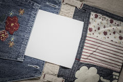 White card in a pocket Stock Images
