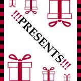White card of present box Stock Photo
