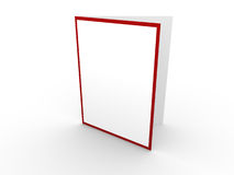 White card with red border. White blank card with red border; 3d render Stock Images