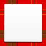 White Card On Red Plaid Royalty Free Stock Photos