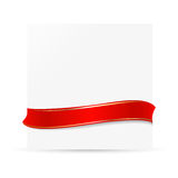 White card with ribbon Royalty Free Stock Photography