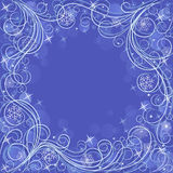 White card with snowflakes. White card with blue snowflakes Royalty Free Stock Image