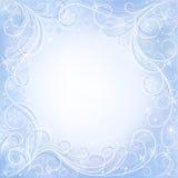 White card with snowflakes. White card with blue snowflakes Stock Photos