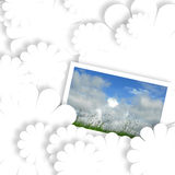 White card with summer field photo Royalty Free Stock Photography
