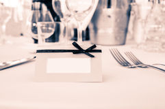 White card on table Royalty Free Stock Photography