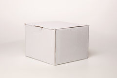 White cardboard box Royalty Free Stock Images