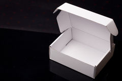 White cardboard box Stock Photography