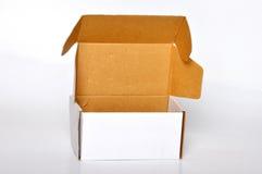 White cardboard box. On white background Royalty Free Stock Photo