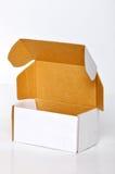 White cardboard box. On white background Royalty Free Stock Photography
