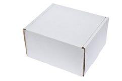 White cardboard box Royalty Free Stock Photos