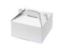 White cardboard box Stock Image