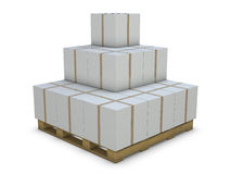White cardboard boxes in group Stock Photography
