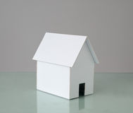 White cardboard house. Stock Photo
