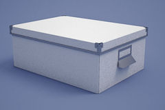 White Cardboard Storage Box Royalty Free Stock Photos