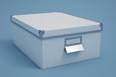 White Cardboard Storage Box Stock Photography