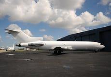 White cargo jet stock image