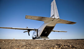 White Cargo Plane Royalty Free Stock Photos