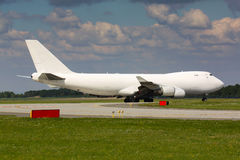 White cargo plane. Ready for take off Royalty Free Stock Photos