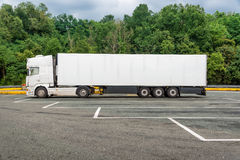 White cargo truck Royalty Free Stock Image