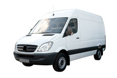 White Cargo Van Stock Photos