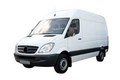White Cargo Van stock photos