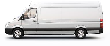 White cargo van Royalty Free Stock Photo