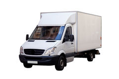 White Cargo Van Royalty Free Stock Image