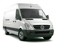 White cargo van Royalty Free Stock Image