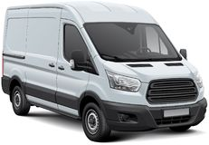 White cargo van Stock Photo