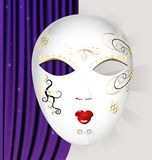 White carnival mask Stock Photos
