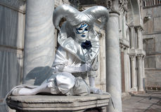 White carnival mask in venice Royalty Free Stock Photography