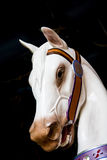 White Carousel Horse Head Stock Photo