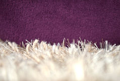 White Carpet. Fluffy textile Stock Photos