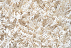 White Carpet. Fluffy textile Stock Photo