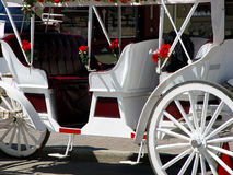 White Carriage. In Helen Ga Royalty Free Stock Photography