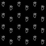 White carrot with black wallpaper great for any use. Vector EPS10. royalty free illustration