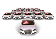 White cars for sale Royalty Free Stock Photo