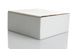 White carton box. Isolated on white background Stock Photo