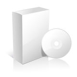 White carton box for software Royalty Free Stock Photography