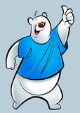 Cartoon polar bear Stock Images