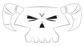 White cartoon skull Stock Images