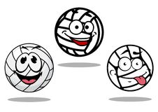 White cartoon volley balls characters Royalty Free Stock Photos
