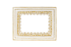 White carved picture frame Stock Photo