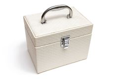 White casket with handle Stock Images