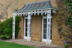 White cast iron Veranda Royalty Free Stock Images